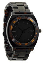 NIXON Womens The Time Teller Acetate matte black/drk