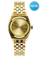 NIXON Womens The Time Teller all gold / neon yellow