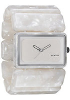 NIXON Womens The Vega white granite
