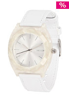 NIXON Womens Time Teller Acet Leather white granite