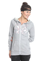 NIXON Womens With Love II Hooded Zip Sweat heather grey