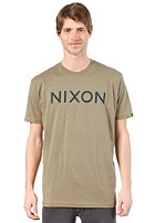 NIXON Wordmark S/S T-Shirt military green/navy