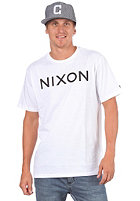 NIXON Wordmark S/S T-Shirt white/black
