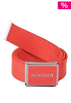 NIXON Woven Wordmark Belt red pepper