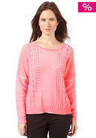 NMPH Womens Norah Knit Sweat fiery coral