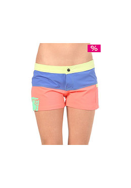 NOMIS Womens Block Party Boardshort fluroescent papaya