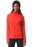 NORR�NA Womens Narvik Warm2 Strecht Hooded Zip Jacket tasty red