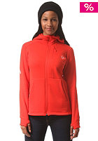 NORR�NA Womens Narvik Warm2 Strecht Hooded Zip Jacket tasty red