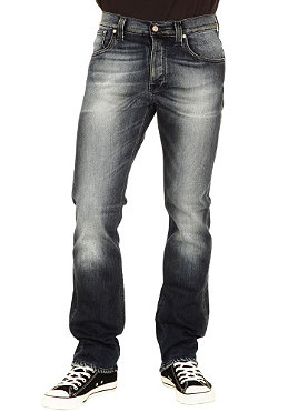NUDIE JEANS Average Joe Pant black weft indigo