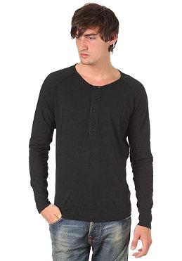 NUDIE JEANS Henley NJ/LST 01 L/S Shirt black