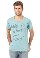 NUDIE JEANS Round Neck S/S T-Shirt organic we do turquoise