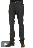 NUDIE JEANS Thin Finn Pant low yoke thin skinny organic dry ecru embossed