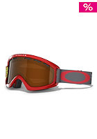 OAKLEY 02 XS Viper Red Scribble Goggle black iridium