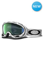 OAKLEY A Frame Goggle white factory text/ emerald iridium