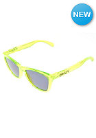 OAKLEY Frogskin Sunglasses acid green/ grey