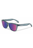 OAKLEY Frogskin Sunglasses cyrstal black/red iridium