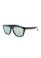 OAKLEY Frogskin Sunglasses matte black/emerald iridium polarized