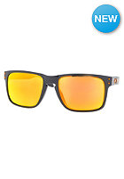 OAKLEY Polarized Holbrook Toxic Black Sunglasses dark grey/fire iridium