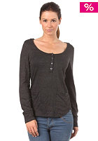 OAKLEY Womens Glacier Henley L/S Shirt jet black