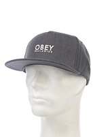 OBEY Anvers Snapback Cap heather charcoal