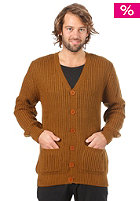 OBEY Berkley Cardigan bronze brown