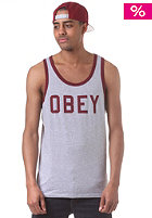 OBEY Collegiate Tank Top heather grey / burgundy