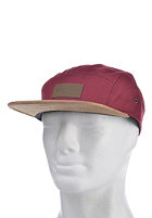 OBEY Descent 5 Panel Cap burgundy