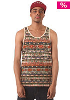 OBEY Folklore Tank Top tan stripe