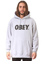 OBEY Font Hooded Sweat heather grey / black