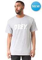 OBEY Font S/S T-Shirt heather grey