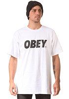 OBEY Font S/S T-Shirt white / black