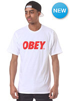 OBEY Font S/S T-Shirt white/ red