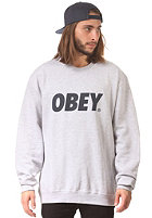 OBEY Font Sweat heather grey / navy