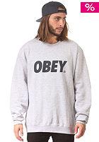 OBEY Font Sweat heather grey / navy