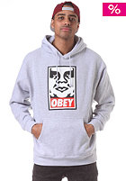 OBEY Icon Face Hooded Sweat heather grey