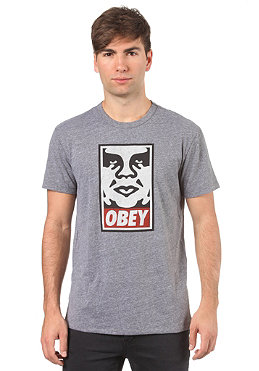 OBEY Icon S/S T-Shirt heather grey