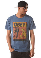 OBEY No Runs, No Drips, No Errors S/S T-Shirt dark denim