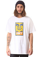 OBEY Orange Icon Face S/S T-Shirt white