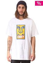 OBEY Orange Icon Face S/S T-Shirt white
