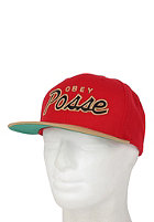 OBEY Posse Snapback red / tan