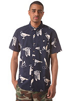 OBEY Seagull Port Woven S/S Shirt navy