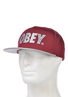 OBEY The City Snapback Cap burgundy / silver