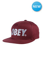 OBEY The City Snapback Cap maroon