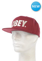 OBEY The City Snapback Cap wine