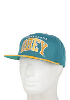 OBEY Throwback Snapback Cap aqua / gold