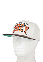 OBEY Throwback Snapback Cap natural / brown