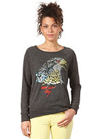 OBEY Womens Animal Instinct Sweatshirt heather onyx