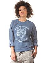 OBEY Womens Be All End All Sweatshirt dusty dark denim