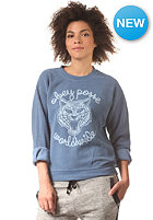 OBEY Womens Be All End All Sweatshirt dusty dark denim