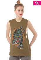 OBEY Womens Blacklight Power Top dark olive